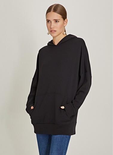 NGSTYLE Oversize Kapüşonlu Sweatshirt Siyah